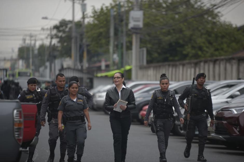 Así fue trasladada la exvicepresidenta a Torre de Tribunales. (Foto: Wilder López/Soy502)