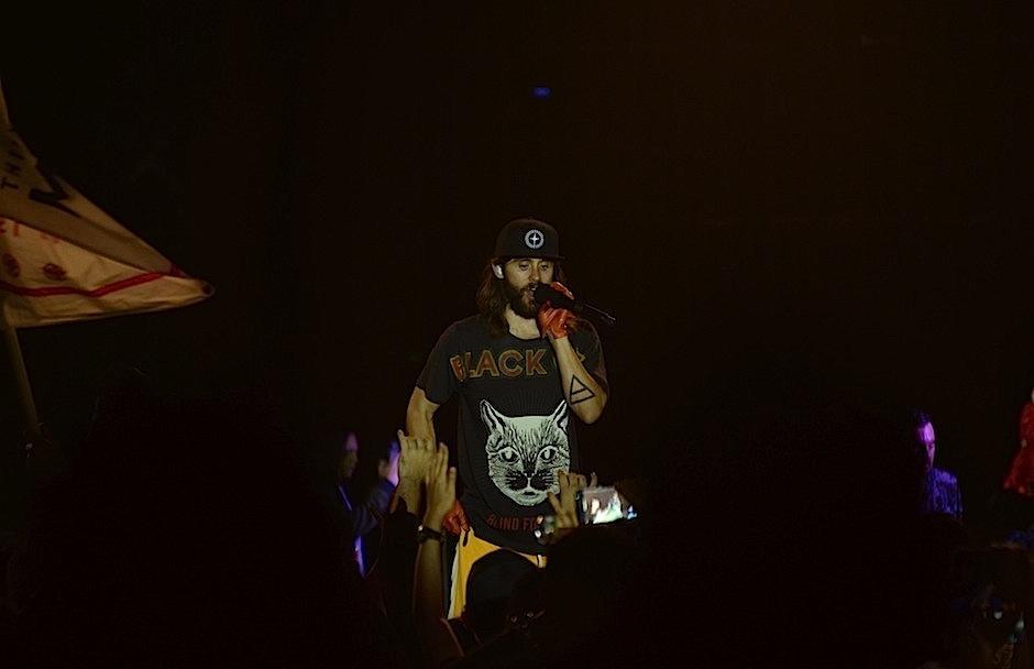 Jared usó una playera de la marca Gucci para cantar en el país.  (Foto: Selene Mejía/Soy502)