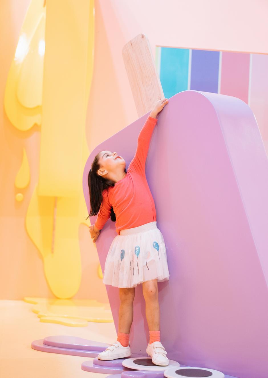 Los niños pueden disfrutar tanto del espacio como de los helados Eyespop.  (Foto: cortesía Eyespopland)
