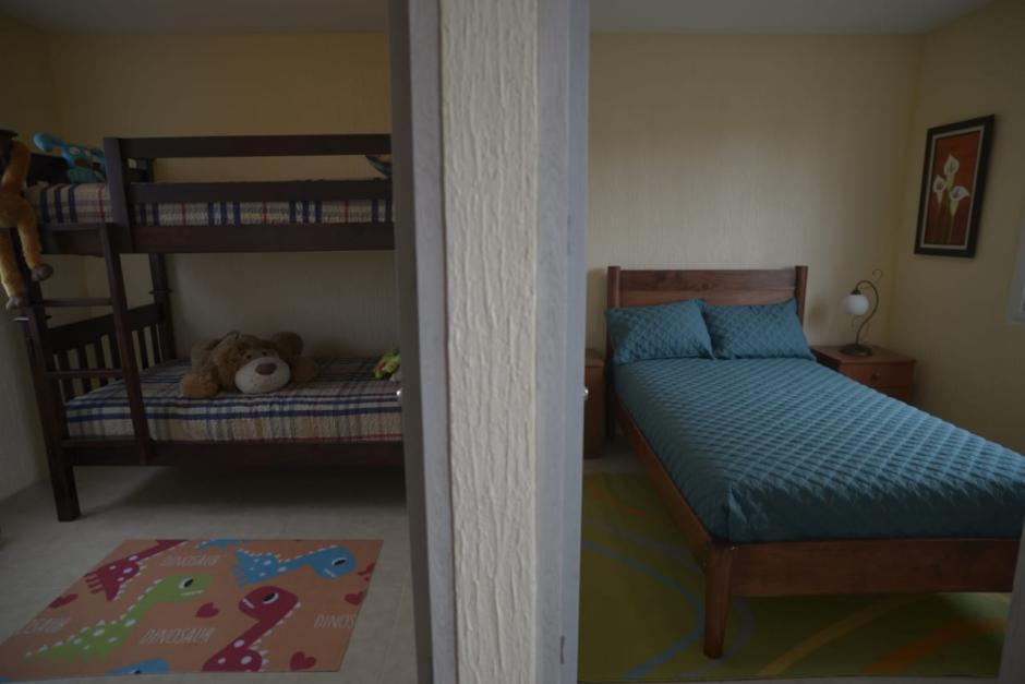La vivienda consta de dos habitaciones, una para los menores. (Foto: Wilder López/Soy502)