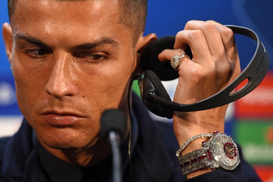 Además de las declaraciones de Ronaldo, el reloj del portugués llamó la atención. (Foto: AFP)