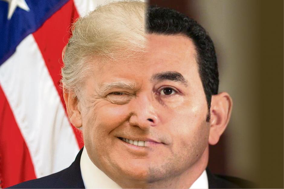 Según los expertos, Jimmy Morales ha tratado de imitar varias acciones de su homólogo norteamericano. (Foto: Soy502)
