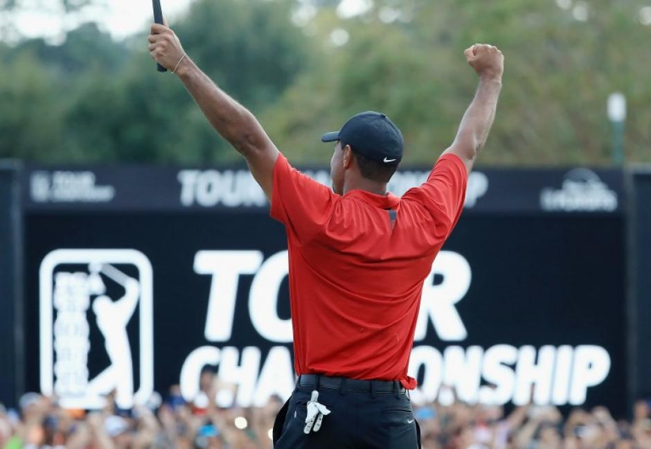 Tiger Woods regresó a lo grande al golf mundial. (Foto: AFP)