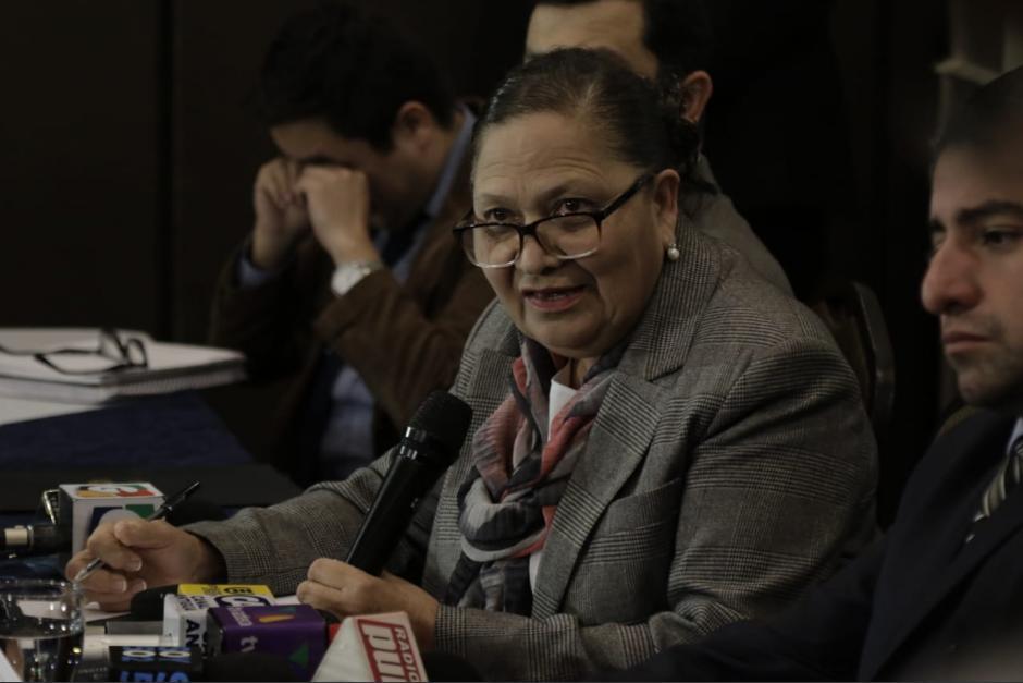 María Consuelo Porras afirmó que actuará hasta que la CC certifique lo conducente. (Foto: archivo/Soy502)