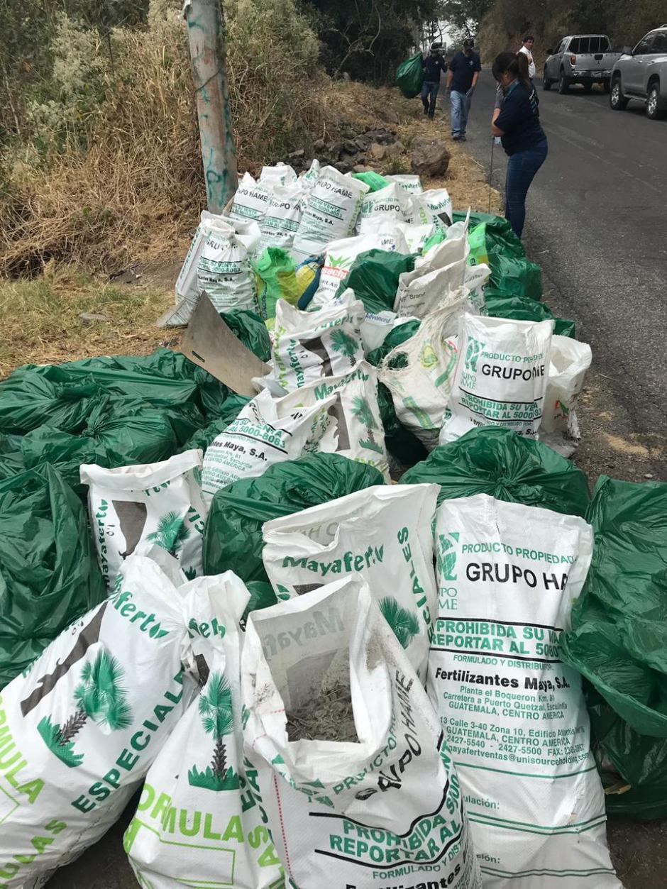 Los colaboradores de Bayer recolectaron 1,5 toneladas de basura. (Foto: Bayer)