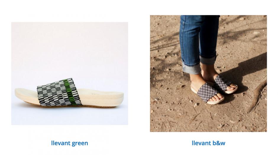 Las cintas de estos zapatos son hechas por artesanas guatemaltecas. (Foto: Pla)