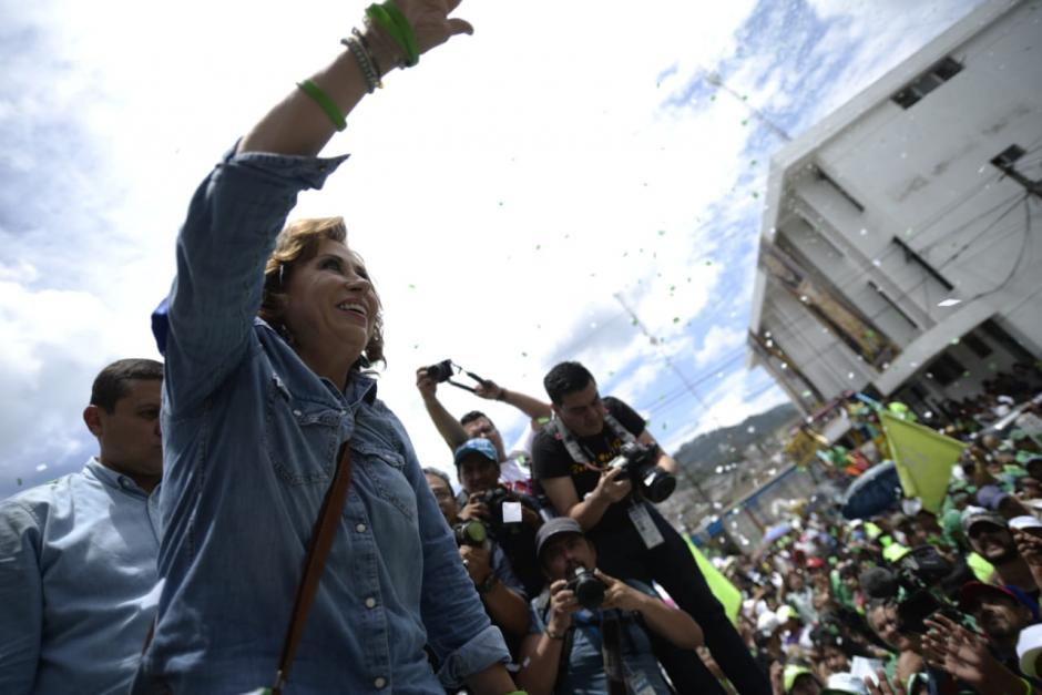 La candidata aseguró que ganará las Elecciones frente a cientos de simpatizantes.  (Foto: Wilder López/Soy502)