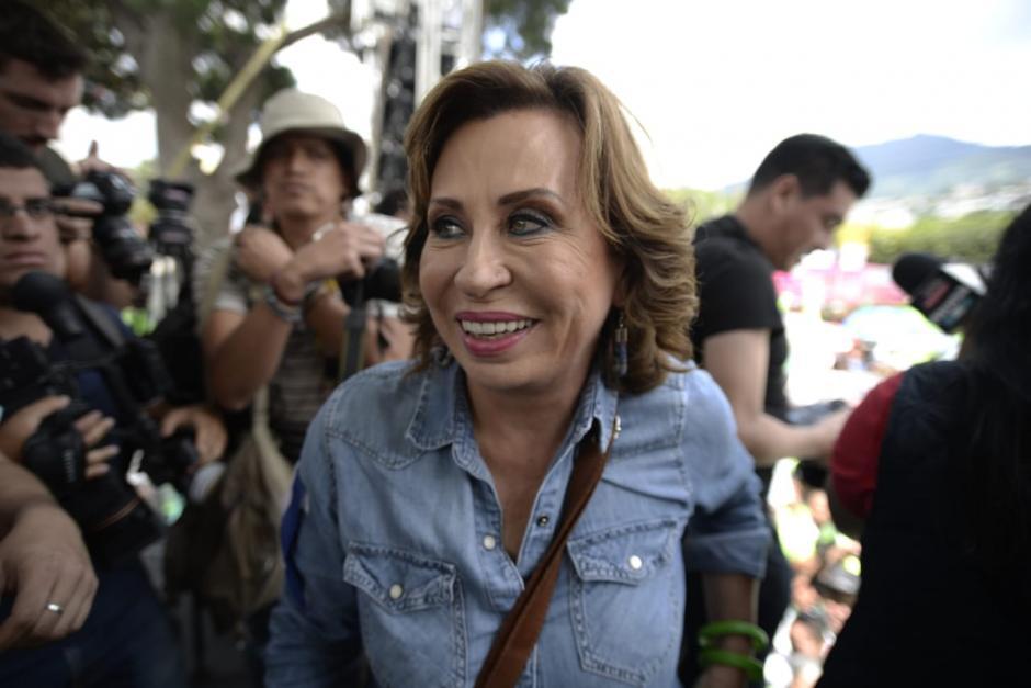 Sandra Torres llegó a Mixco para concluir su campaña. (Foto: Wilder López/Soy502)