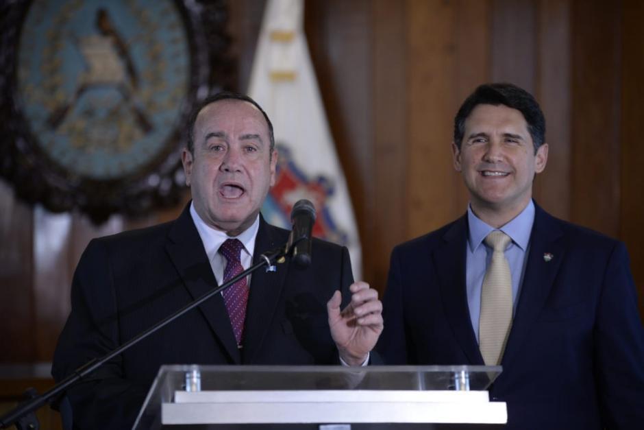 El presidente electo Alejandro Giammattei se sostuvo una reunión con el alcalde capitalino Ricardo Quiñónez. (Foto: Wilder López/Soy502)