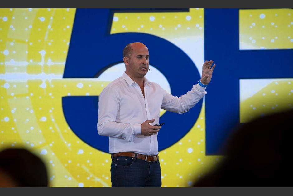 Mario López, Co-fundador de Poincent Technology, habló sobre los desafíos hacia la conversión digital. (Foto: George Rojas/Soy502)