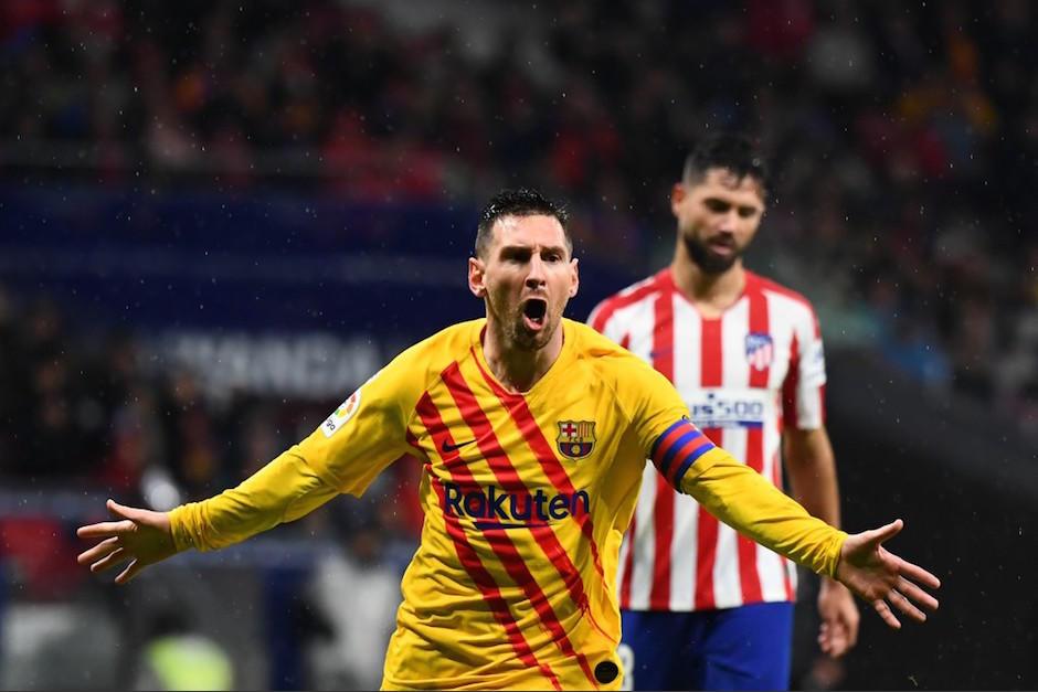 Messi festeja con todo su anotación. (Foto: AFP)