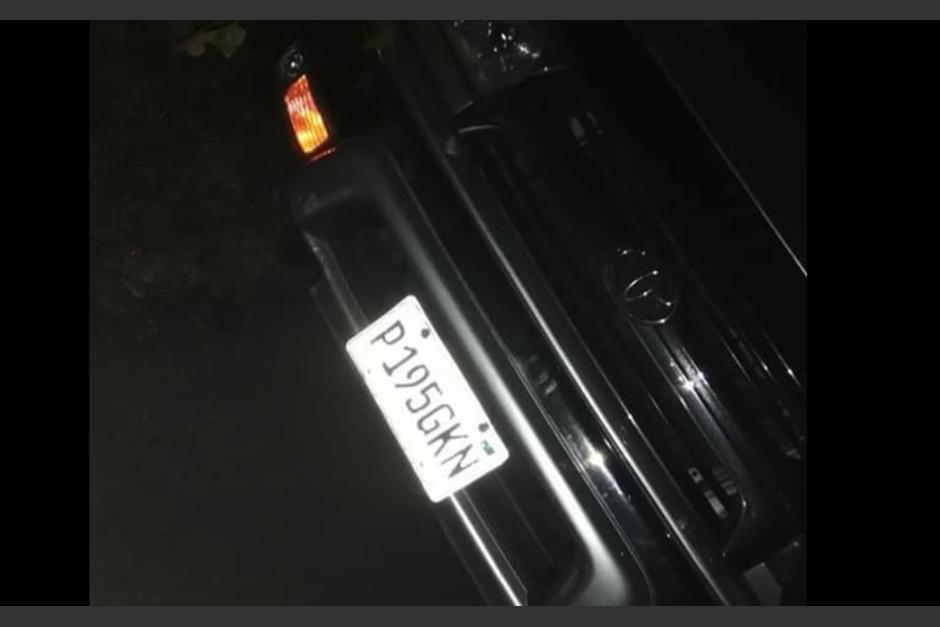 Los miembros de la familia fueron localizados sin vida dentro de este auto. (Foto: Noticias de Totonicapán)