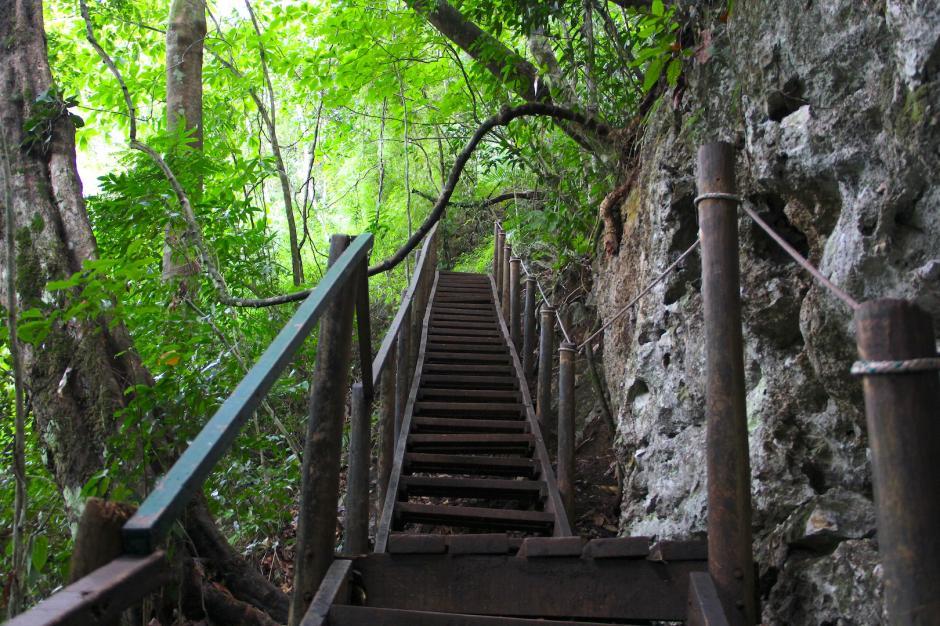 El sendero es de 500 metros de longitud en ascenso por la montaña. (Foto: Fredy Hernández/Soy502)