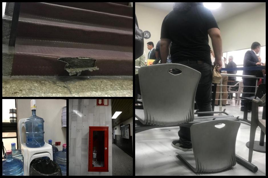 En la Torre de Tribunales hay diversas carencias. (Fotos: Wilder López/Soy502)