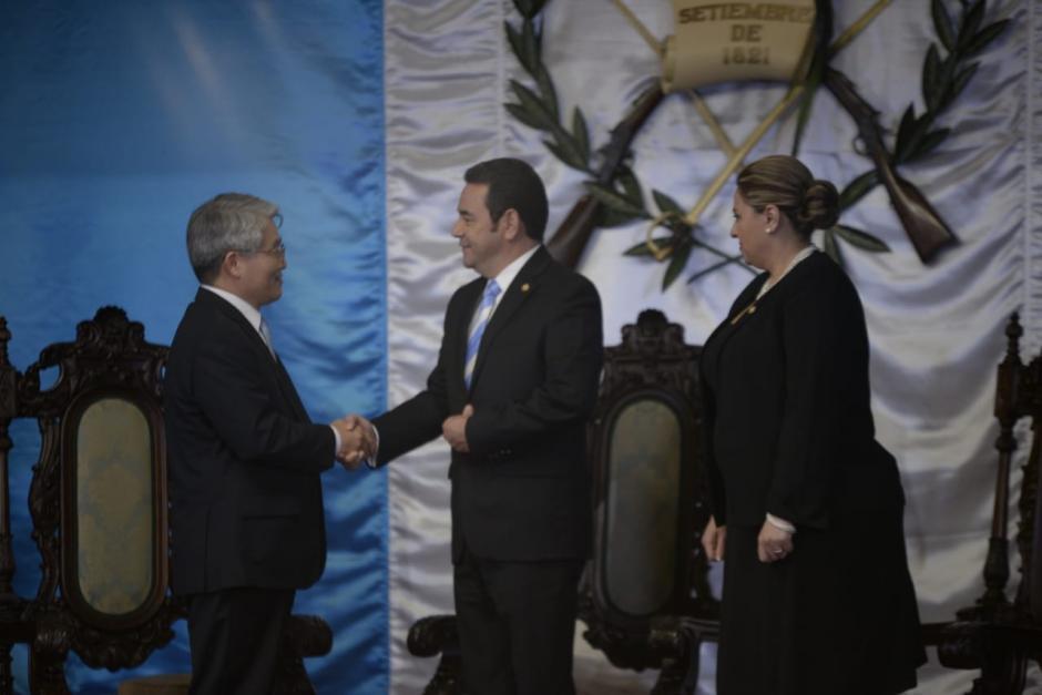 Seok-Hwa Hong, embajador de Corea en Guatemala, presentó sus credenciales. (Foto: Wilder López/Soy502)