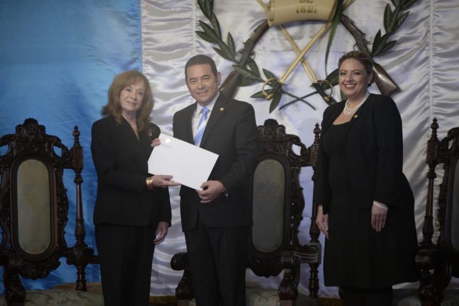 María del Pilar Fernández, embajadora de Cuba, presenta sus credenciales. (Foto: Wilder López/Soy502)