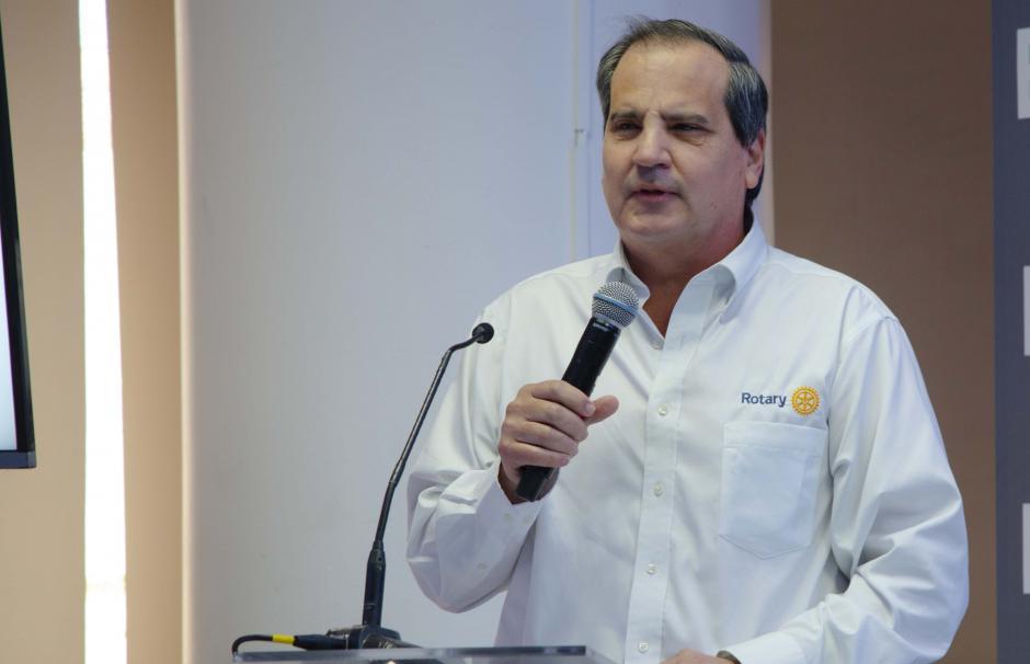 """""""Las tres fundaciones participantes estamos muy agradecidos con BAM por tomarnos en cuenta en esta iniciativa"""", comentó Julio Graziosos, miembro de El Club Rotario. (Foto: Victor Xiloj/Soy502)"""