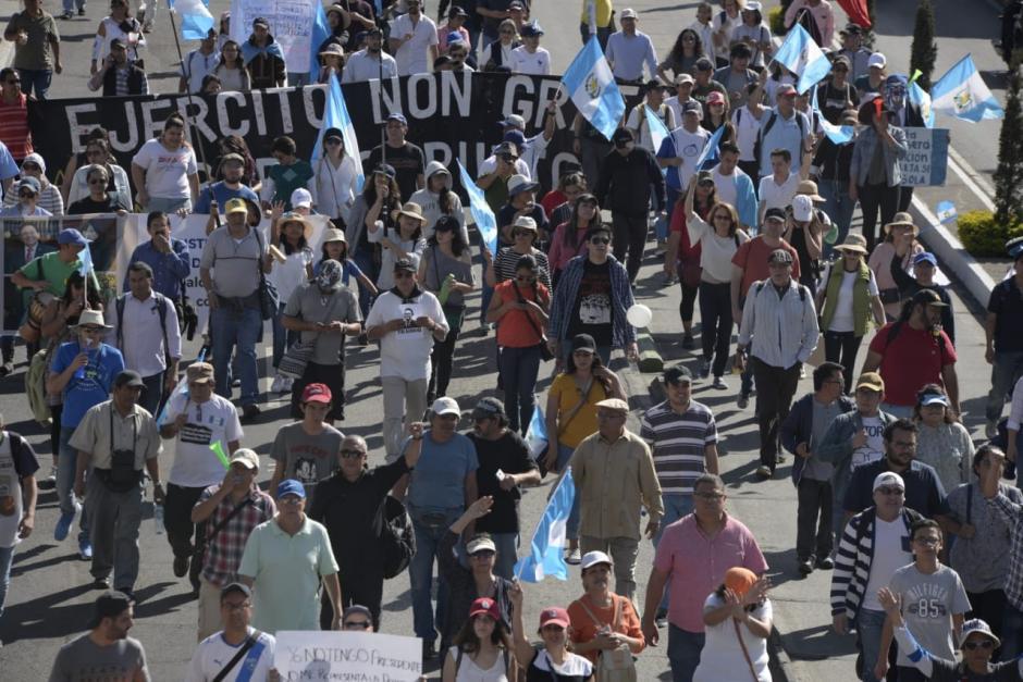La marcha llegó hasta la Plaza de la Constitución. (Foto: Wilder López/Soy502)