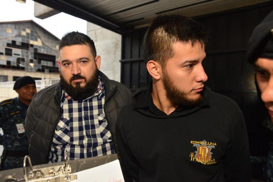 Capturan a Ricardo Mendoza Treviño, de 39 años, y Rubén Alejandro Rivera Ibarra, de 22. Foto: Jesús Alfonso/Soy502