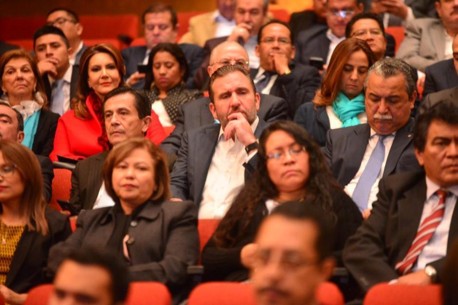 Roberto Arzú, también precandidato, estaba presente en la actividad. (Foto: Jesús Alfonso/Soy502)
