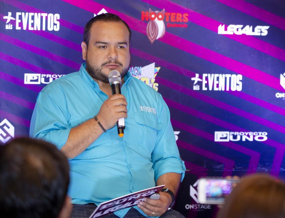 Raúl Arandi, productor de Más Eventos, comentó la emoción de los integrantes de ambas agrupaciones por venir al país. (Foto: George Rojas/Soy502)