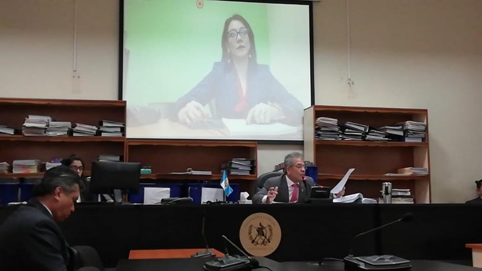 Astrid Escobedo, mandataria de la CICIG, se presentó a través de videoconferencia. (Foto: Evelyn de León/Soy502)