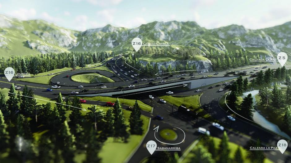 Esta obra traerá beneficio para 131 mil automovilistas. (Diseño: Municipalidad de Guatemala)