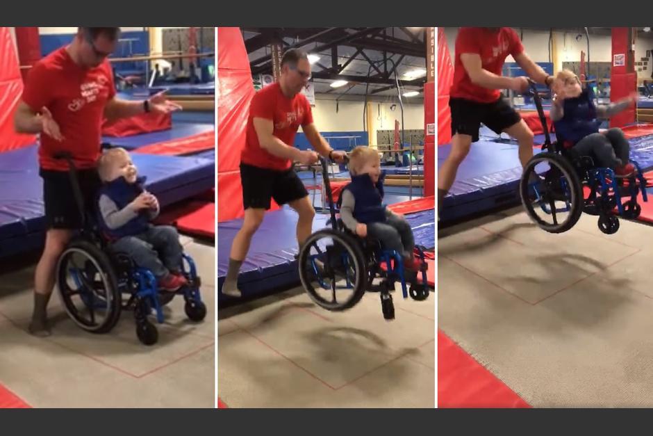 Por la discapacidad que sufre nunca había podido experimentar un salto. (Foto: ExtraIE)