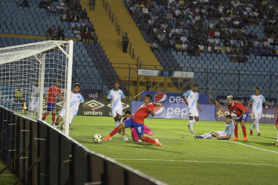 El primer gol de Costa Rica llegó al minuto 14. (Foto: Luis Barrios/Soy502)