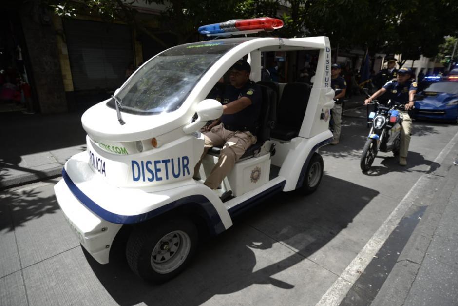 La PNC muestra los vehículos que utiliza en su labor de defensa al turista. (Foto: Wilder López/Soy502)