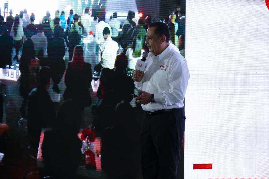 Ricardo Sahagún, director de Claro Guatemala, se mostró entusiasmo por el nuevo canal Claro Sports. (Foto: George Rojas/Soy502)