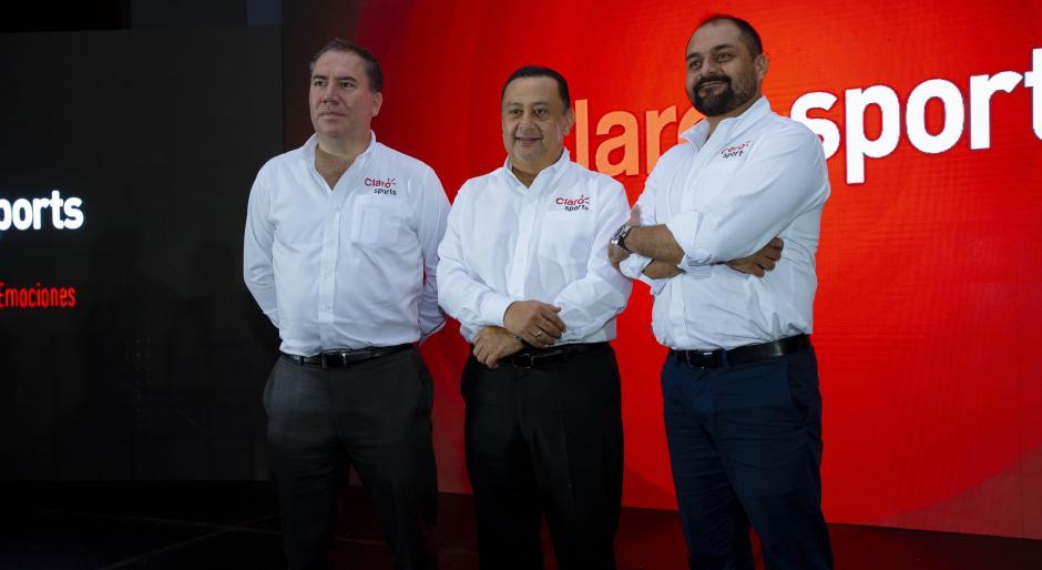 Directores de Claro y Claro Sports anunciaron el nuevo canal deportivo. (Foto: George Rojas/Soy502)
