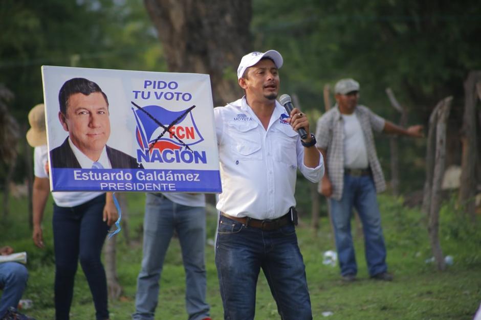 Carlos Roberto Marroquín busca ser reelecto como alcalde de Moyuta, Jutiapa. (Foto: FCN Moyuta)