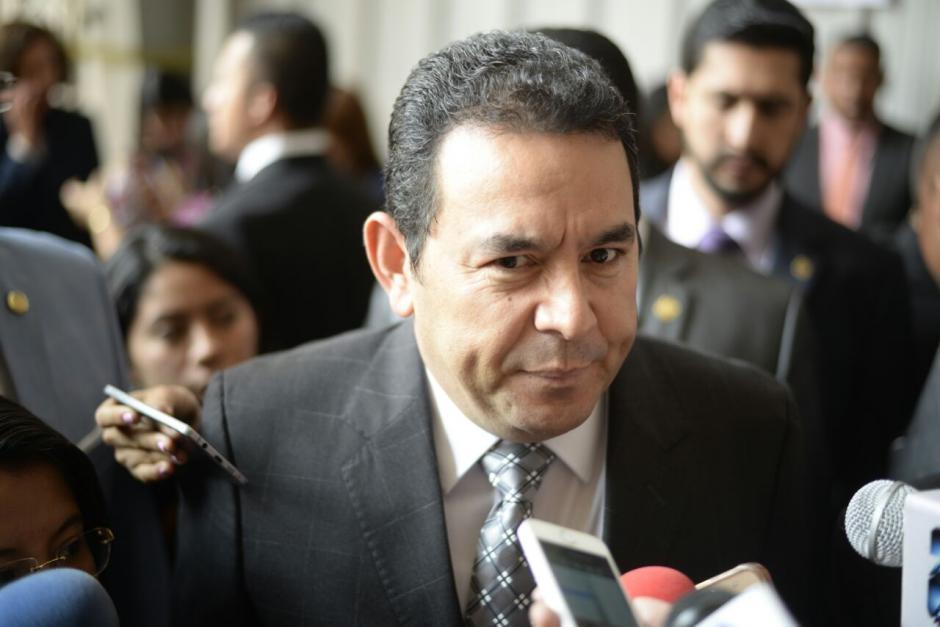 La labor del presidente Jimmy Morales ha sido mal calificado en varias encuestas. (Foto: Archivo/Soy502)