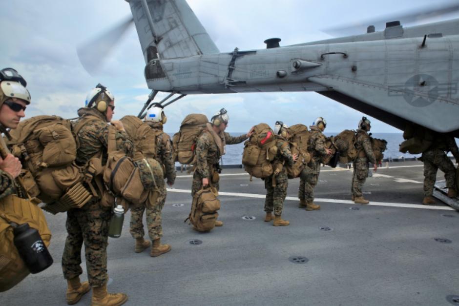Una delegación de 300 marinos y marineros de una Fuerza de Tarea del Comando Sur de Estados Unidos se despliegan en El Salvador, Honduras, Belice y Guatemala. (Foto: Facebook Marine Forces Reserve)