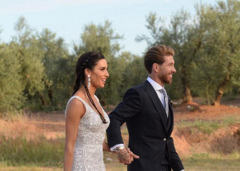 Los invitados no podían llevar celular a la boda de Sergio y Pilar (Foto: AFP)