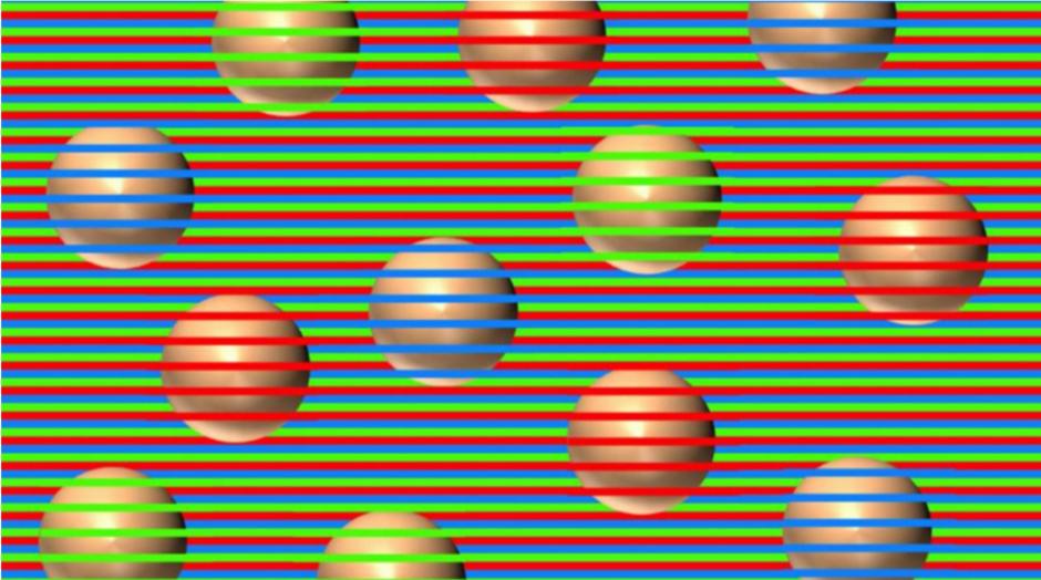 ¿De qué color ves las esferas? Nueva ilusión óptica viral en Internet