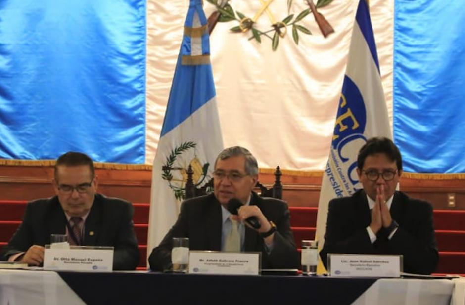 El vicepresidente Jafeth Cabrera participó en una reunión de la Seccatid. (Foto: Vicepresidencia)