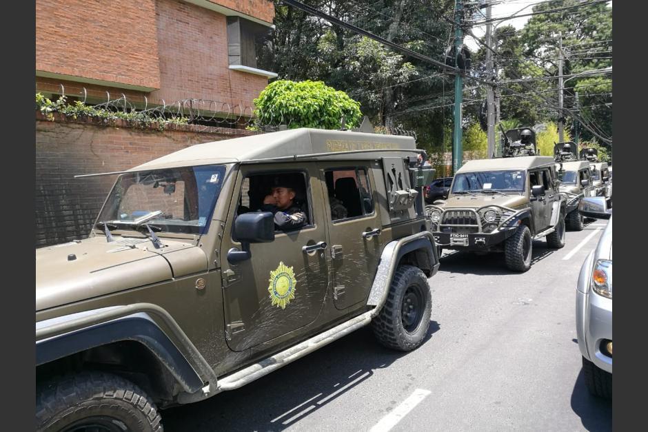 El Gobierno respondió a la sanción de EE.UU. por el uso que le dio a los jeeps J8 que donó. (Foto: Archivo/Soy502)