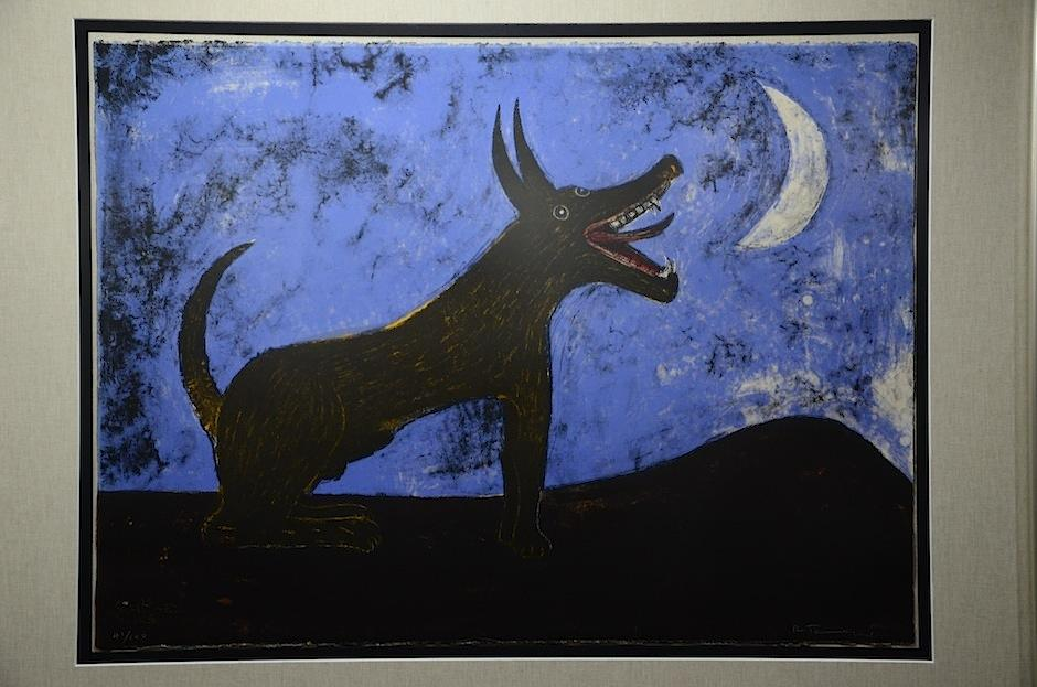 """""""Perro de Luna"""" es una de laspiezas del artistas.  (Foto: Selene Mejía/Soy502)"""