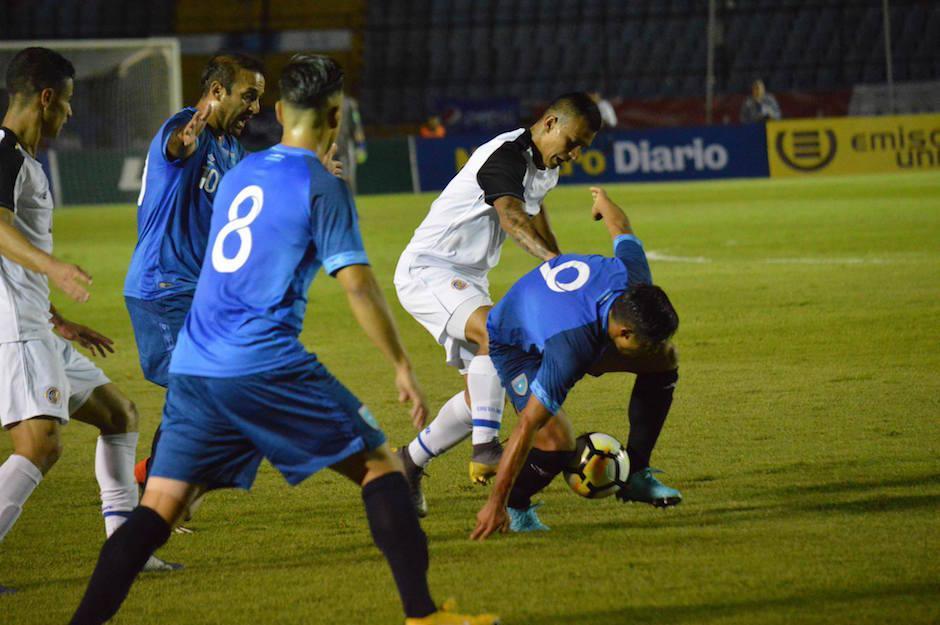 Costa Rica no logró anotar en la cancha guatemalteca. Stefano Cincotta anotó el gol de la victoria. (Foto: Luis Barrios/Soy502)