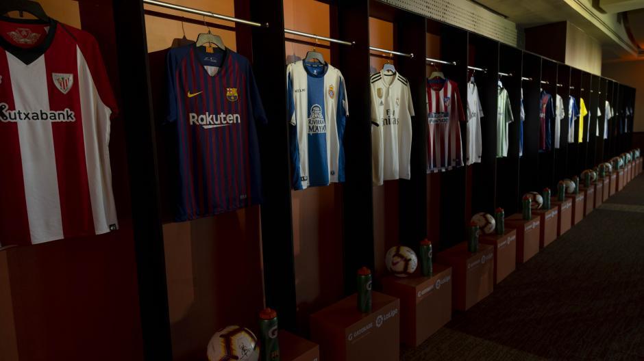 Pachones con los logos de los 20 equipos de LaLiga ofrece Gatorade a sus consumidores. (Foto: George Rojas/Soy502)