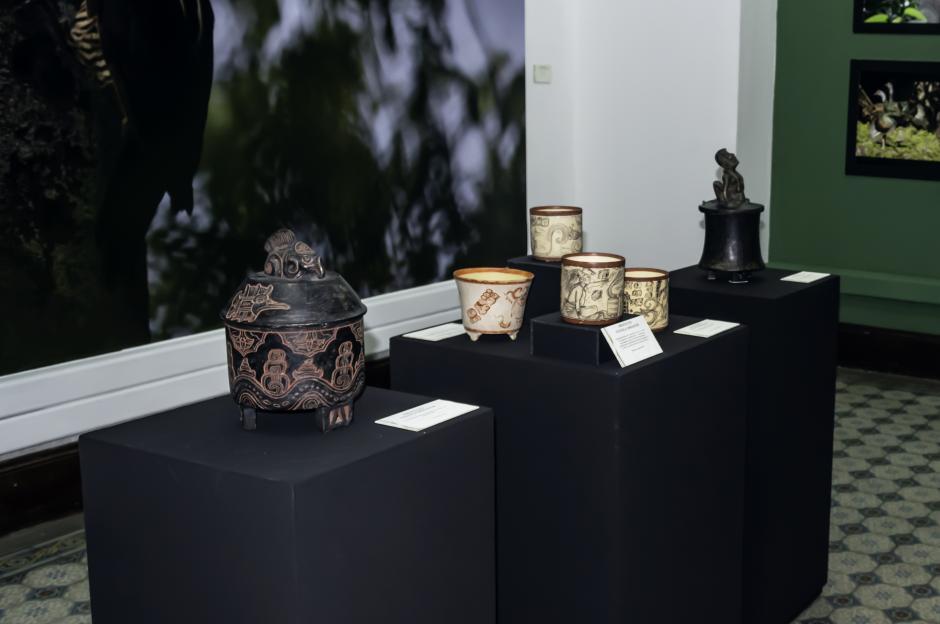 En la exposición se presentan descubrimientos del sitio arqueológico de Cuenca El Mirador. (Foto: Melissa Menéndez/Soy502)