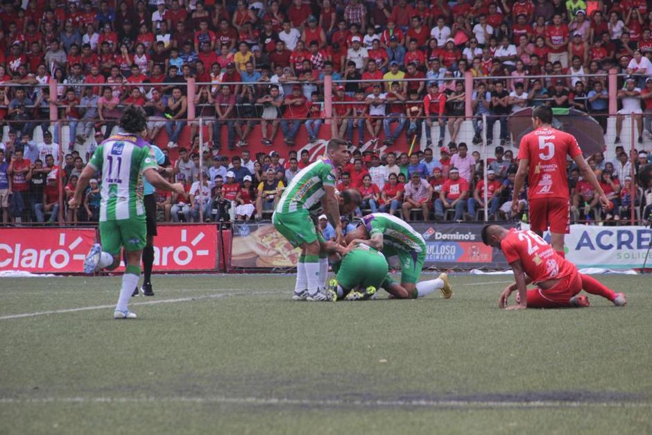 Antigua GFC pegó primero en la final contra Malacateco. (Foto: Soy Antigua)