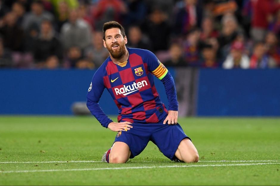 Lionel Messi y el FC Barcelona no pudo contra el Slavia Praga por la Champions. (Foto: AFP)