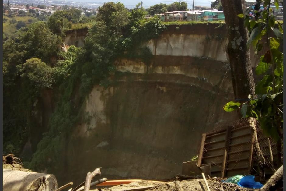 El derrumbe en Ciudad Peronia afectó varias viviendas de dos colonias. (Foto: Archivo/Soy502)