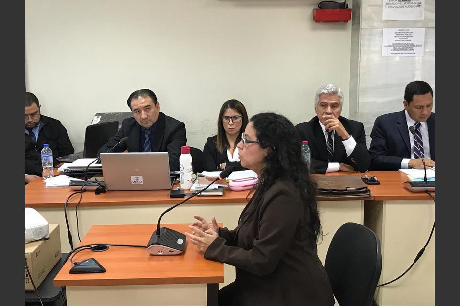Diana Odeth Benavides realizó serios señalamientos en contra de asesores de la fiscal María Consuelo Porras, el fiscal Marlon Pacheco y desde la bancada de diputados FCN. (Foto: Evelyn de León/Soy502)