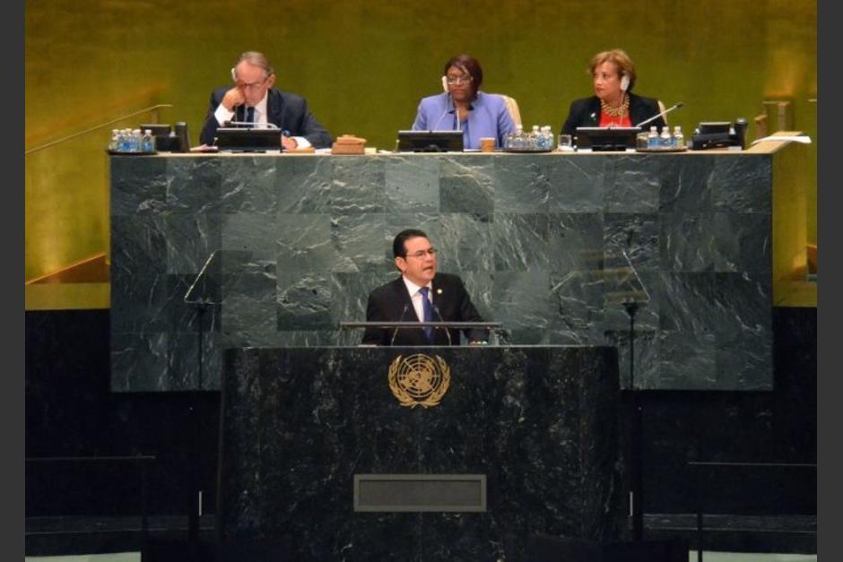 El 25 de septiembre, el presidente Jimmy Morales solicitó a la ONU investigar a la CICIG, lo hizo durante su discurso en la 74 Asamblea General de ese organismo internacional. (Foto: Archivo/Soy502)