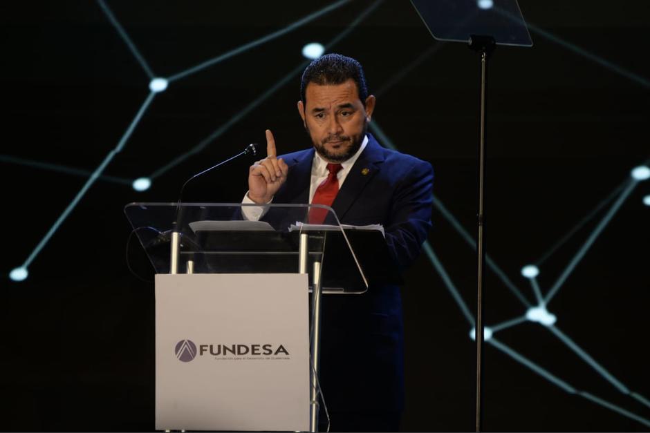 Morales lanzó varias críticas durante su discurso de inauguración del Enade 2019. (Foto: Wilder López/Soy502)