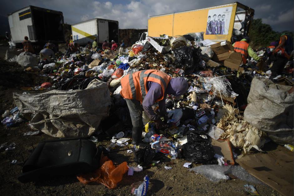 El relleno sanitario ubicado en Bárcenas, Villa Nueva está al punto del colapso. (Foto: Wilder López/Soy502)
